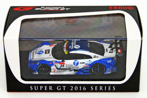 Ebbro 45383 GT-R SUPER GT GT500 2016 Rd.4 Sugo Winner Forum Engineering ADVAN No.24 1/43 Scale