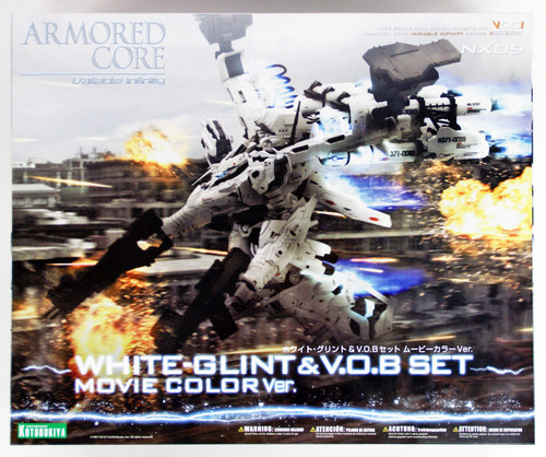 Kotobukiya VI061 Armored Core White Glint & V.O.B Set Movie Color 1/72 Scale Kit