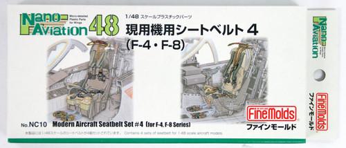 Fine Molds NC10 Modern Aircraft Seatbelt Set 4 1/48 scale kit