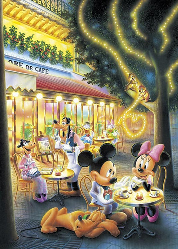 Tenyo Japan Jigsaw Puzzle D-108-802 Disney Mickey & Minnie Mouse (108 Pieces)