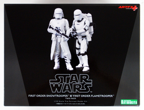 Kotobukiya SW123 Star Wars The Force Awakens First Order Snowtrooper & Flametrooper 1/10 Scale Figure Set