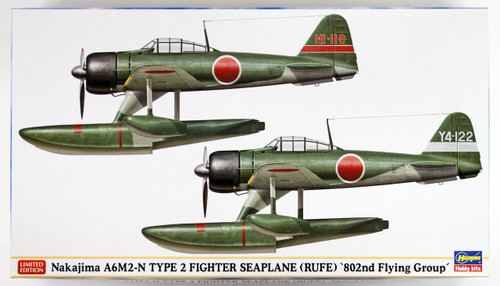 "Hasegawa 02220 Nakajima A6M2-N Type 2 Fighter Seaplane (Rufe) ""802nd Flying Group"" 1/72 scale kit"