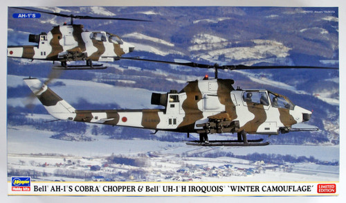 "Hasegawa 02239 Bell AH-1S Cobra Chopper & UH-1J Iroquois (Huey) ""Winter Camouflage"" 1/72 scale kit"