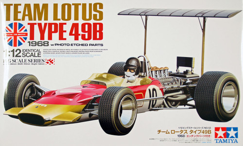 Tamiya 12053 Team Lotus Type 49B 1968 with Photo Etched Parts 1/12 Scale Kit
