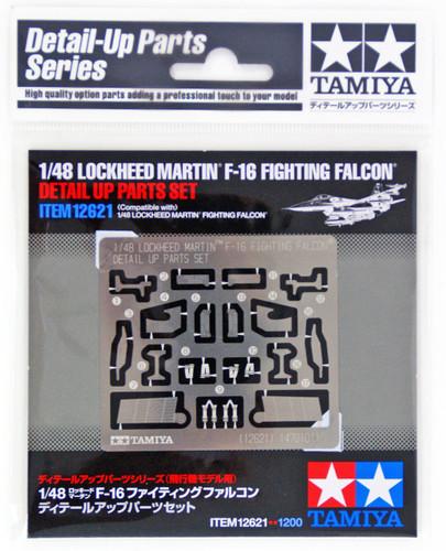 Tamiya 12621 Lockheed F-16 Fighting Falcon Detail Up Parts Set 1/48 Scale Kit