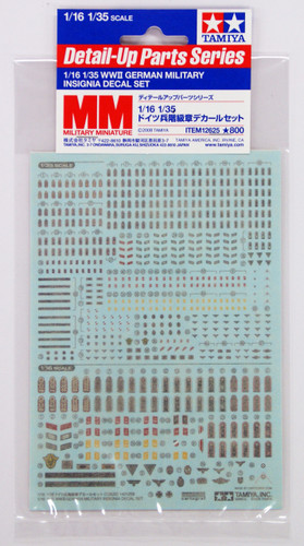 Tamiya 12625 German Military Insignia Decal Set 1/16 & 1/35 Scale Kit