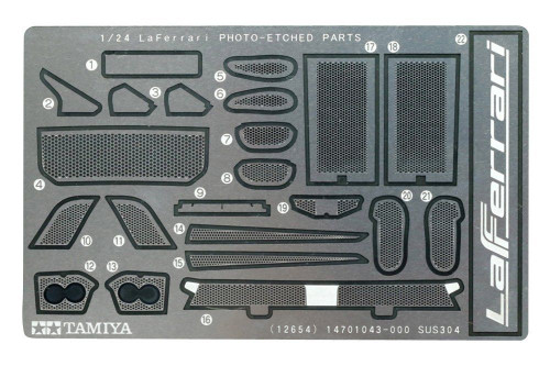 Tamiya 12654 LaFerrari Photo Etched Parts 1/24 Scale Kit