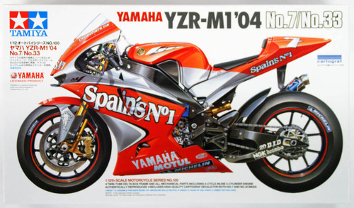 Tamiya 14100 Yamaha YZR-M1'04 No.7/No.33 1/12 Scale Kit