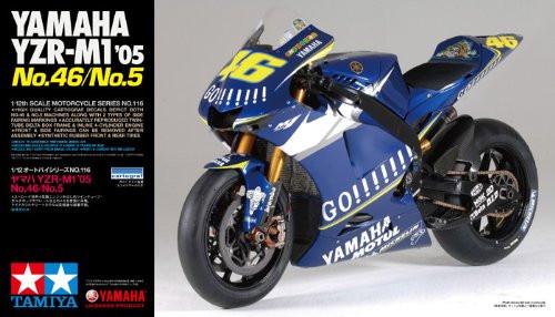 Tamiya 14116 Yamaha YZR-M1 '05 No.46/No.5 1/12 Scale Kit
