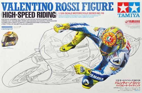 Tamiya 14118 Valentino Rossi Rider Figure (High Speed Riding) 1/12 Scale Kit