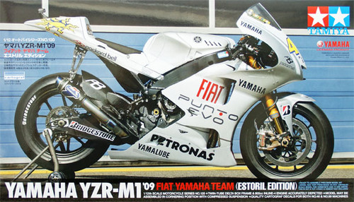 Tamiya 14120 YZR-M1 2009 Fiat Yamaha Team Estoril 1/12 Scale Kit