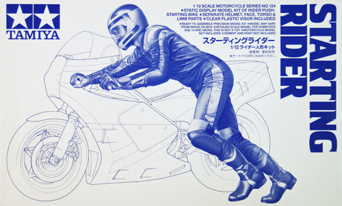 Tamiya 14124 Motorcycle Racing Rider (Starting Rider) 1/12 Scale Kit
