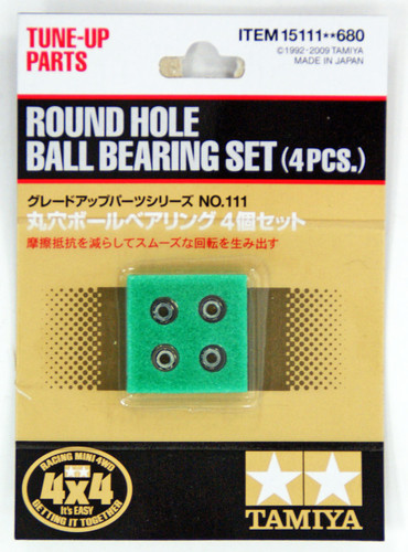 Tamiya 15111 Mini 4WD ROUND HOLE BALL BEARING SET