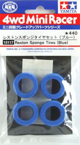 Tamiya 15117 Mini 4WD Reston Sponge Tires (Blue)