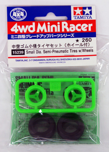 Tamiya 15239 Mini 4WD Small Dia. Semi-Pneumatic Tires with Wheels