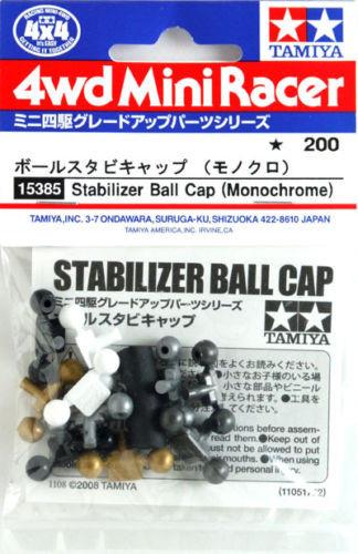 Tamiya 15385 Mini 4WD Stabilizer Ball Cap (Monochrome)