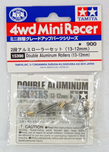 Tamiya 15398 Mini 4WD Double Aluminum Rollers 13-12mm