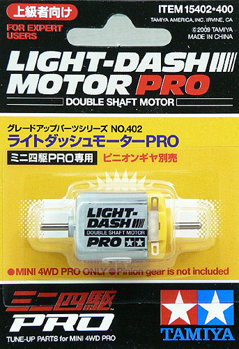 Tamiya 15402 Mini 4WD Light Dash Motor PRO (Double Shaft Motor)