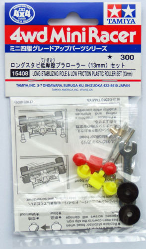 Tamiya 15408 Mini 4WD Stabilizing Pole&Roller Set 13mm