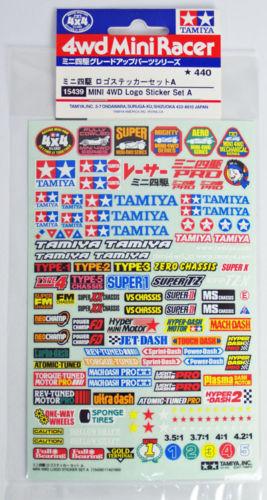 Tamiya 15439 Mini 4WD Logo Sticker Set A