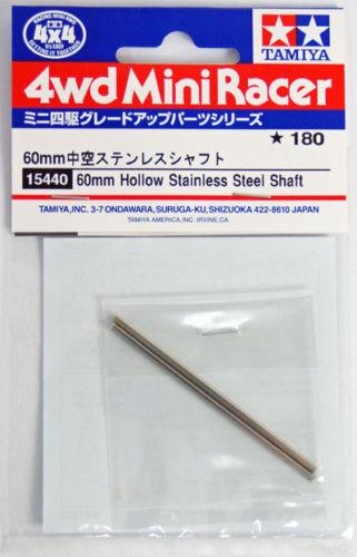 Tamiya 15440 Mini 4WD 60mm Hollow Stainless Steel Shaft