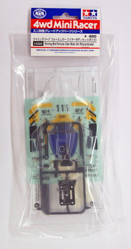 Tamiya 15503 Mini 4WD Winning Bird Formula Clear Body Set (Polycarbonate)