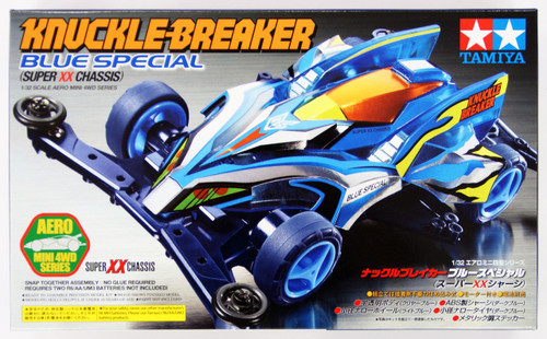 Tamiya 19620 Mini 4WD Knuckle Breaker Blue Special (Super XX Chassis) 1/32