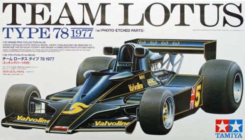 Tamiya 20065 Lotus Type 78 1977 with photo-etched parts 1/20 Scale Kit