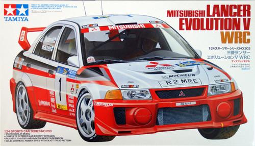 Tamiya 24203 Mitsubishi Lancer Evolution V WRC 1/24 Scale Kit