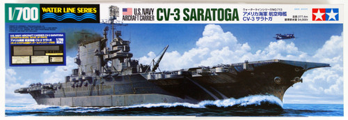 Tamiya 25179 US Carrier CV-3 Saratoga with Detail Up Parts 1/700 Scale Kit