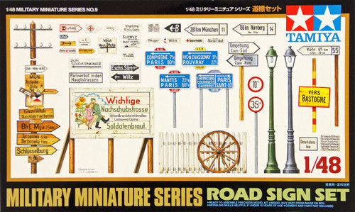 Tamiya 32509 Military Miniatures Road Sign Set 1/48 Scale Kit