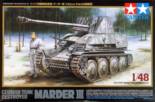 Tamiya 32560 German Tank Destroyer Marder III 1/48 Scale Kit