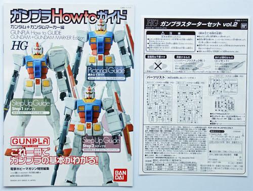 Bandai HGUC Gunpla Starter Set Vol.2 Gundam RX-78-2 + Gundam MARKER 1/144 Scale Kit