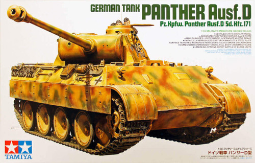 Tamiya 35345 German Panther Ausf.D Sd.Kfz.171 1/35 Scale Kit