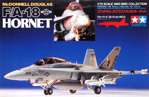 Tamiya 60702 McDONNELL DOUGLAS F/A-18 HORNET 1/72 Scale Kit