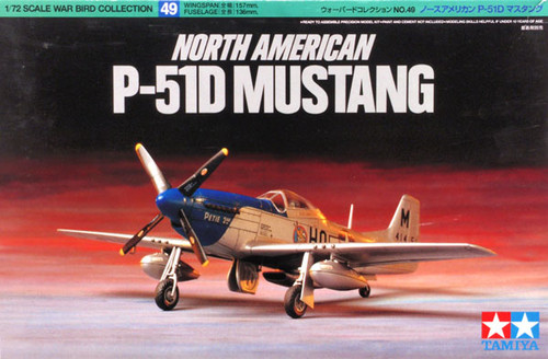 Tamiya 60749 North American P-51D Mustang 1/72 Scale Kit