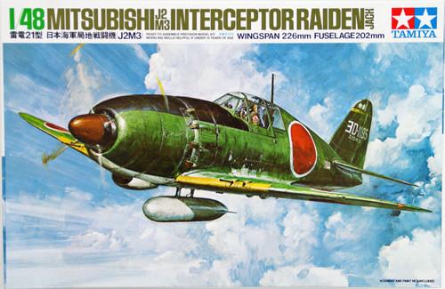 Tamiya 61018 Mitsubishi J2M3 Interceptor Raiden Jack 1/48 Scale Kit