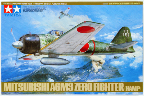 Tamiya 61025 Mitsubishi A6M3 Type32 Zero Fighter (Hamp) 1/48 Scale Kit