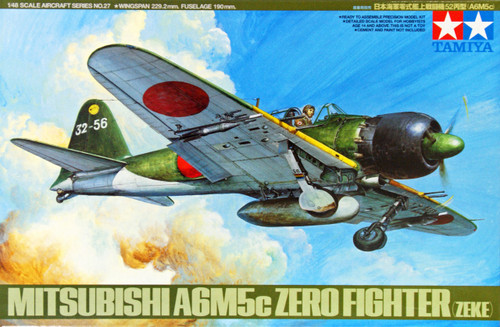 Tamiya 61027 Mitsubishi A6M5c Type 52 Zero Fighter (Zeke) 1/48 Scale Kit