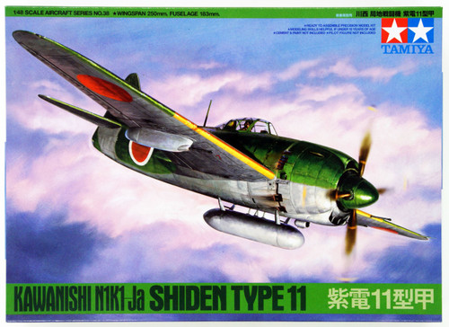 Tamiya 61038 Kawanishi Shiden Type 11 1/48 Scale Kit