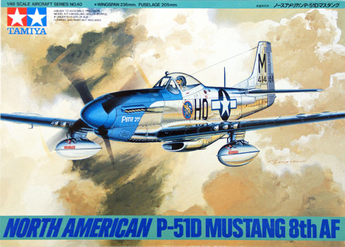 Tamiya 61040 North American P-51D Mustang 8th Air Force 1/48 Scale Kit