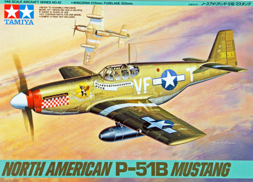 Tamiya 61042 North American P-51B Mustang 1/48 Scale Kit