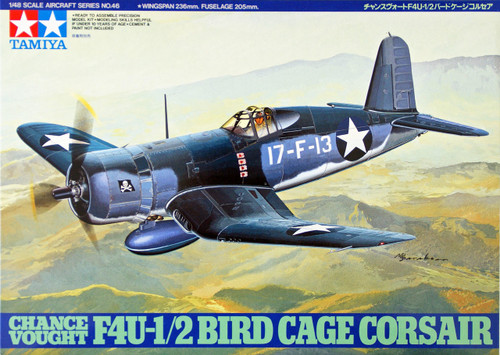 Tamiya 61046 Chance Vought F4U-1/2 Bird Cage Corsair 1/48 Scale Kit