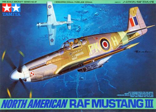 Tamiya 61047 North American RAF Mustang III 1/48 Scale Kit