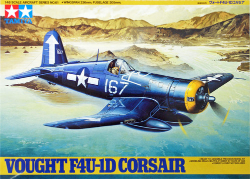 Tamiya 61061 Vought F4U-1D Corsair 1/48 Scale Kit