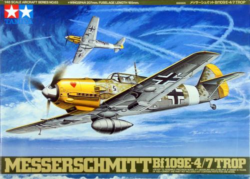 Tamiya 61063 Messerschmitt BF109E-4/7 Trop 1/48 Scale Kit