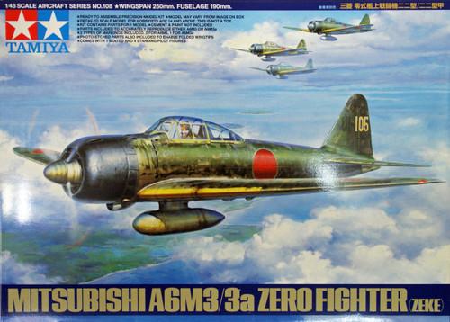 Tamiya 61108 Mitsubishi A6M3/3a Zero Fighter (ZEKE) 1/48 Scale Kit