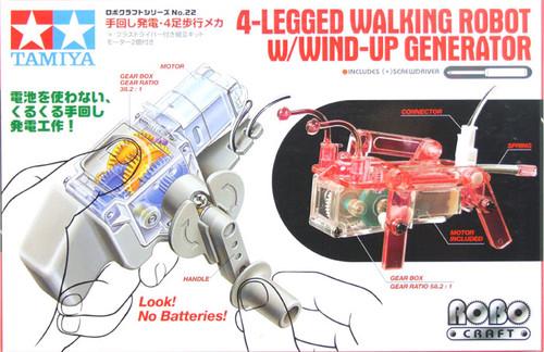Tamiya 71122 4-Legged Walking Robot W/Wind-Up Generator