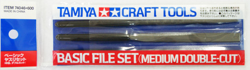 Tamiya 74046 Craft Tools - Basic File Set (Medium double-Cut)