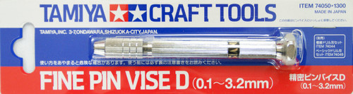 Tamiya 74050 Craft Tools - Fine Pin Vise D (0.1-3.2mm)